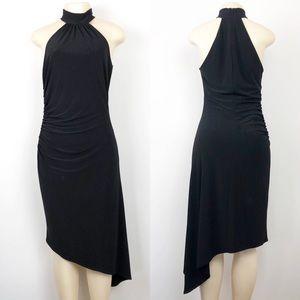 Laundry by Shelli Segal Asymmetrical Black Dress